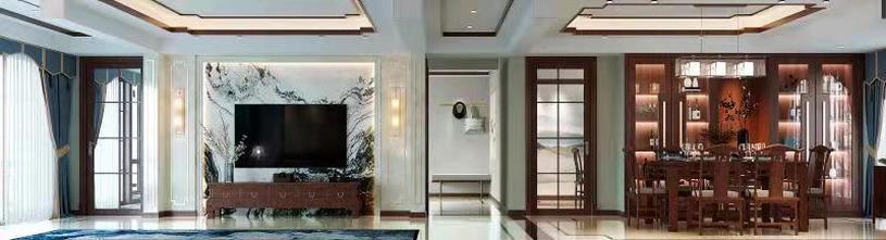 100平米三室三厅中式风格客厅装修案例