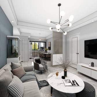 10-15万80平米三室一厅混搭风格客厅装修图片大全