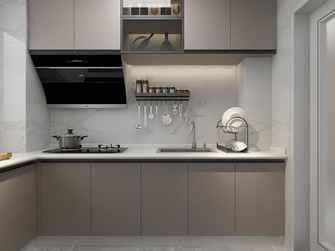 富裕型90平米现代简约风格厨房装修图片大全