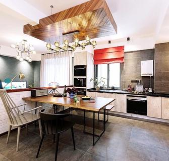 富裕型120平米三室两厅工业风风格餐厅图片