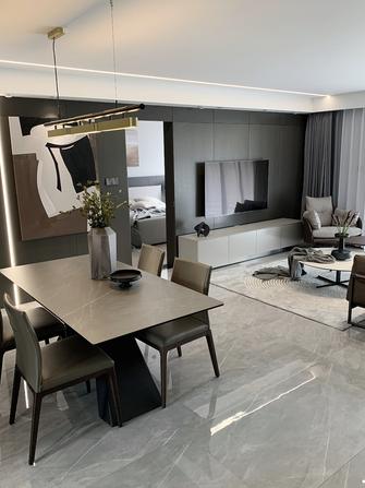 富裕型90平米三室两厅现代简约风格客厅装修图片大全