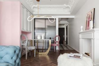 富裕型100平米三室两厅法式风格餐厅图