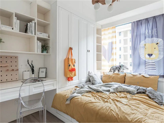 3-5万90平米三室两厅现代简约风格青少年房装修效果图