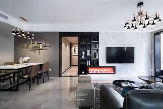 130平米四现代简约风格客厅装修效果图