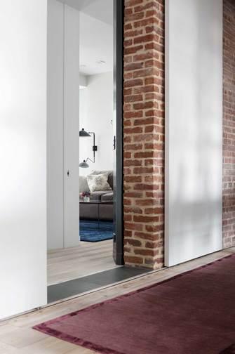 富裕型110平米三工业风风格走廊欣赏图