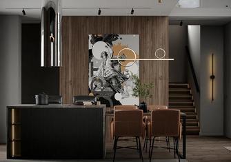 富裕型140平米复式轻奢风格餐厅图片大全