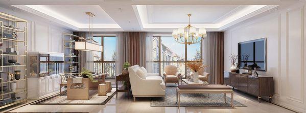 豪华型140平米三室三厅美式风格客厅欣赏图