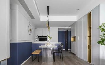 富裕型100平米三现代简约风格餐厅装修效果图