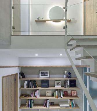 豪华型140平米三室三厅北欧风格书房图片大全