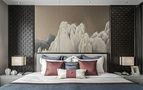 100平米现代简约风格卧室图片大全