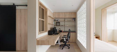 20万以上40平米小户型日式风格书房图片