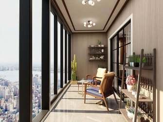140平米四室两厅中式风格阳台装修案例