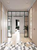 5-10万80平米三室一厅法式风格玄关图片大全