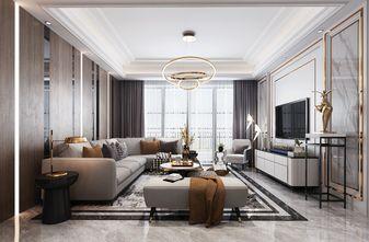 5-10万80平米轻奢风格客厅效果图