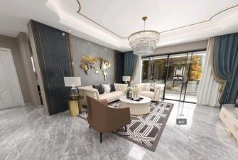 富裕型140平米四室两厅美式风格客厅设计图