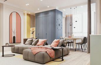 富裕型80平米三室两厅现代简约风格客厅装修图片大全
