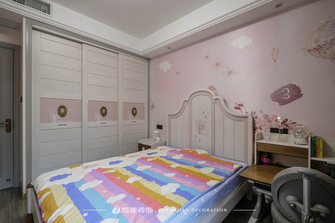 富裕型130平米三室一厅欧式风格青少年房欣赏图