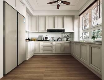 110平米三室一厅美式风格厨房欣赏图