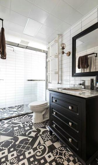 140平米三室一厅美式风格卫生间图片