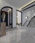 经济型140平米别墅现代简约风格阁楼图