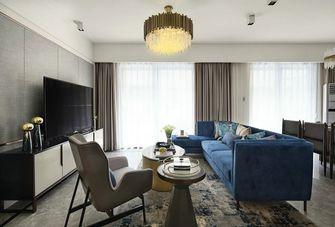 100平米三室一厅英伦风格客厅图片