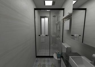 经济型110平米三室一厅现代简约风格卫生间欣赏图
