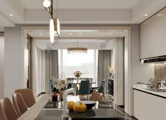 140平米别墅混搭风格餐厅装修效果图