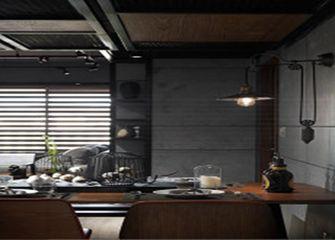 富裕型50平米一居室混搭风格餐厅装修效果图