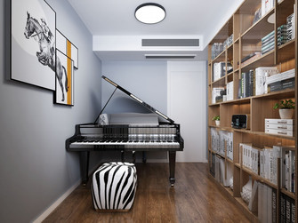 100平米三现代简约风格书房效果图