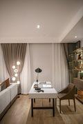 10-15万70平米一室两厅轻奢风格书房装修图片大全