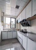 富裕型110平米三室一厅田园风格厨房装修图片大全