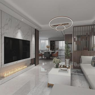 豪华型120平米三室两厅混搭风格客厅装修案例