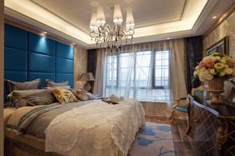 经济型140平米三室一厅田园风格卧室图片