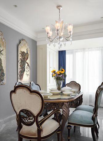 富裕型80平米法式风格餐厅欣赏图