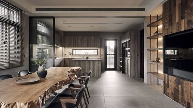 20万以上120平米三室两厅田园风格客厅图片