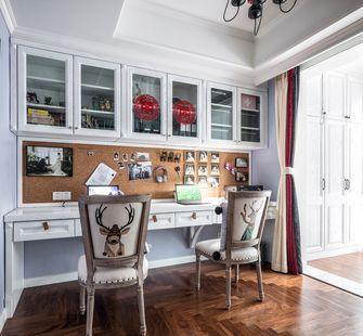 5-10万130平米三室两厅美式风格书房欣赏图