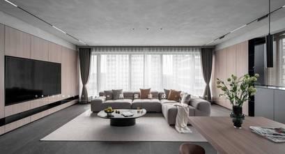 140平米三室两厅混搭风格客厅设计图