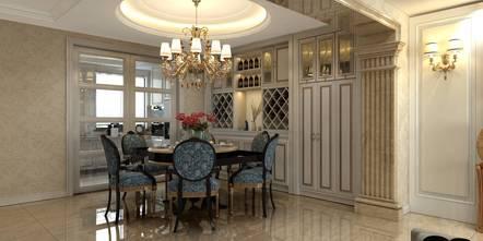 100平米欧式风格餐厅图片