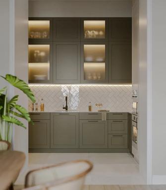 120平米三室一厅中式风格厨房装修效果图