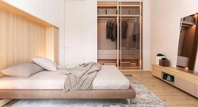 富裕型100平米三室两厅日式风格卧室图