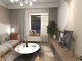 富裕型90平米三日式风格客厅欣赏图