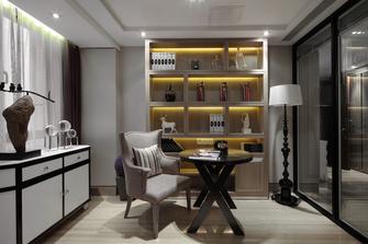 富裕型120平米三室两厅新古典风格书房图片