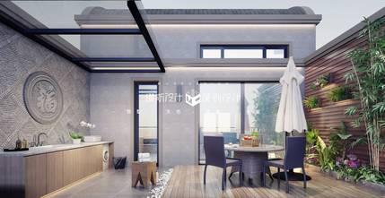 140平米别墅现代简约风格阳光房图片
