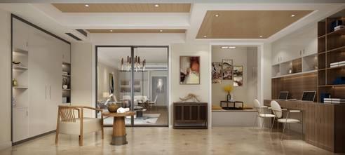 100平米三室两厅现代简约风格阳台装修效果图