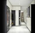 富裕型100平米三室两厅现代简约风格衣帽间图