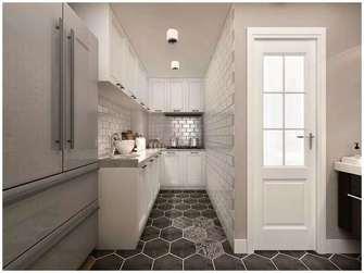 富裕型100平米四室一厅北欧风格厨房设计图