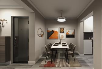 10-15万50平米公寓现代简约风格餐厅图