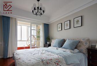 富裕型90平米三室一厅美式风格卧室图