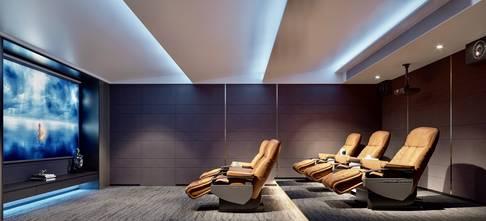 豪华型140平米复式轻奢风格影音室效果图