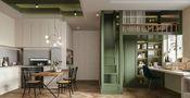 经济型70平米公寓法式风格厨房图片大全